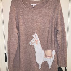 Lauren Conrad Llama Appliqué Sweater Sz XXL